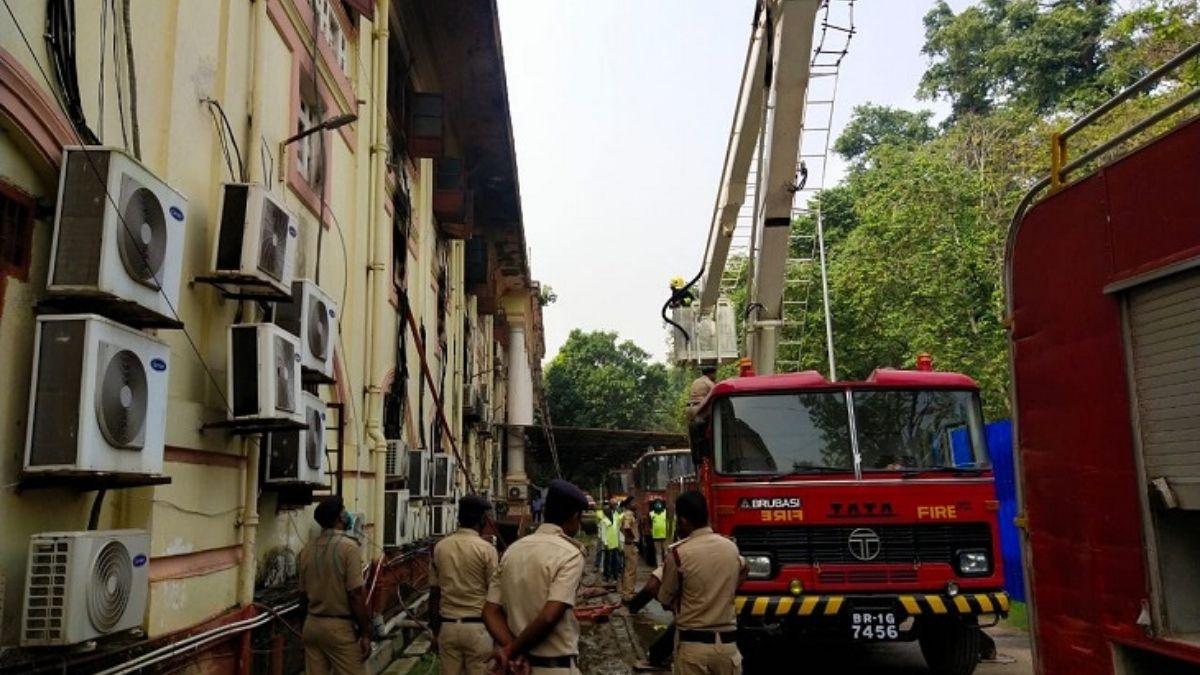 बिहार सचिवालय अब आग पर हुई राजनीति तेज, सभी विपक्षी दलों ने एकसुर में की जांच की मांग