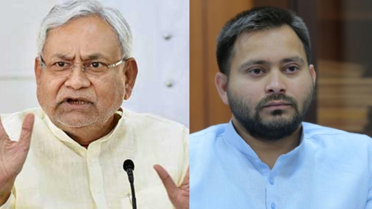 nitish and tejaswi clash on farmer protest delhi