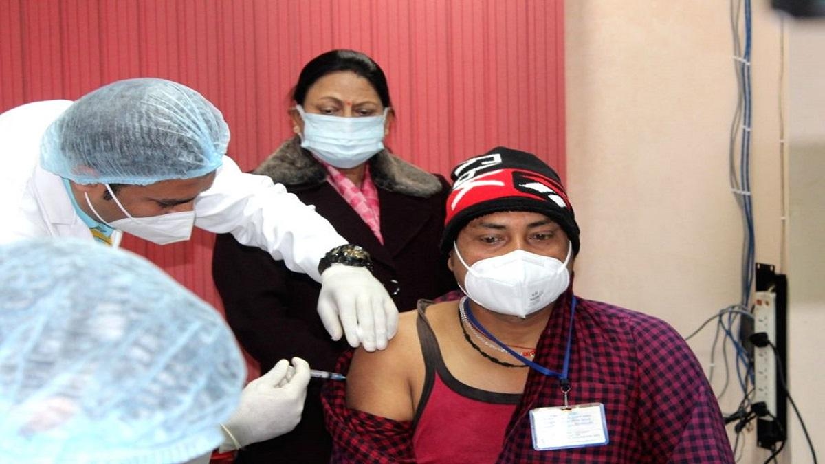 ram babu get first shot of corona vaccine
