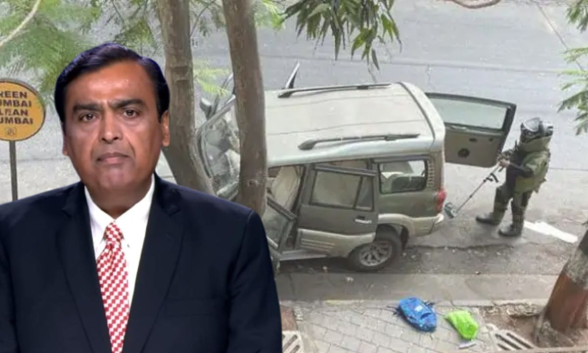 Mukesh ambani explosive found in car