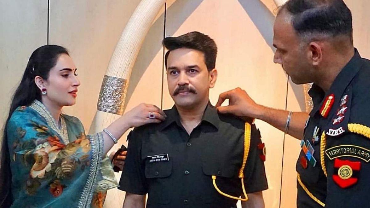 Anurag Thakur Become Territorial army captain