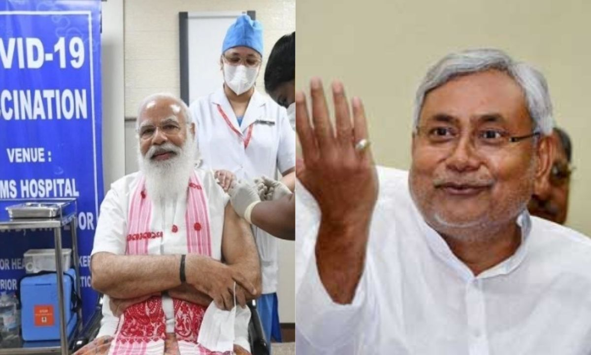 PM modi get vaccination and bihar cm soon get vaccination