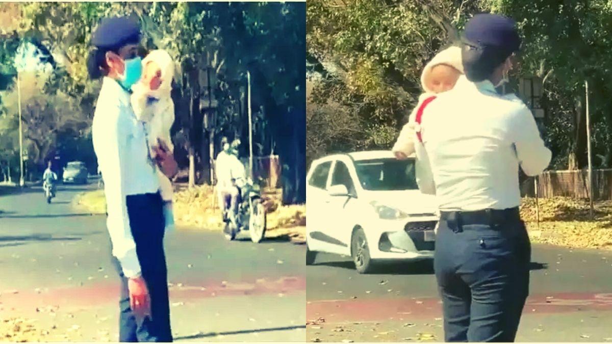 Traffic lady cop chandigarh