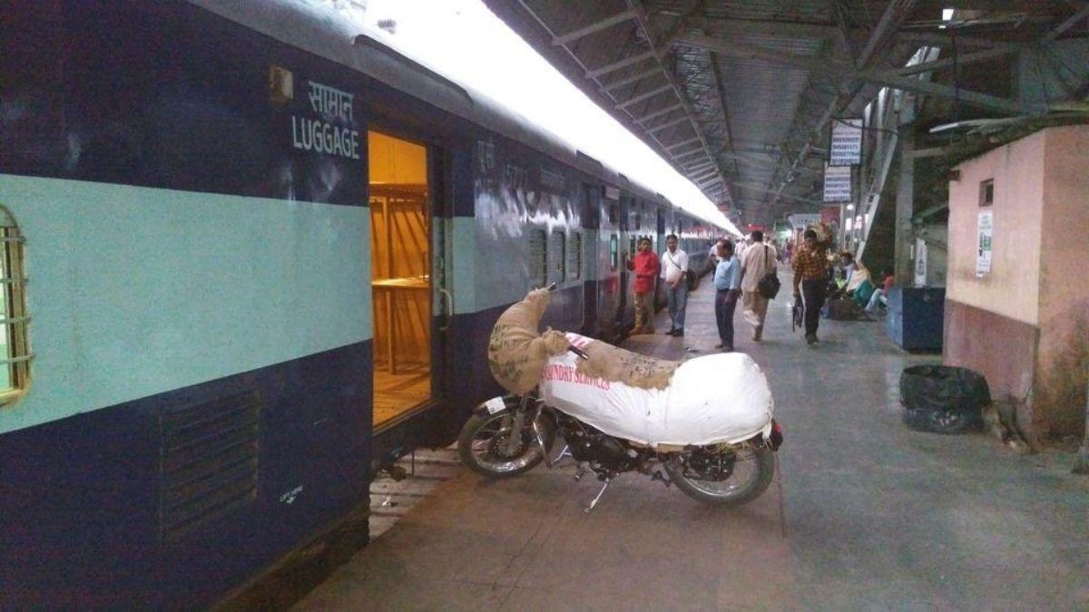 Train Parcel at platform