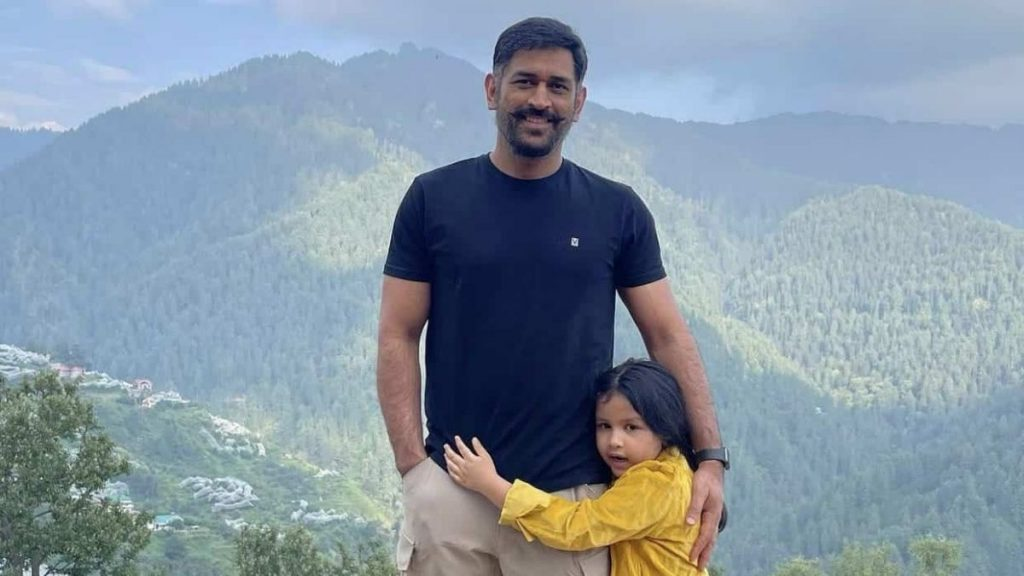 Dhoni in moustaches