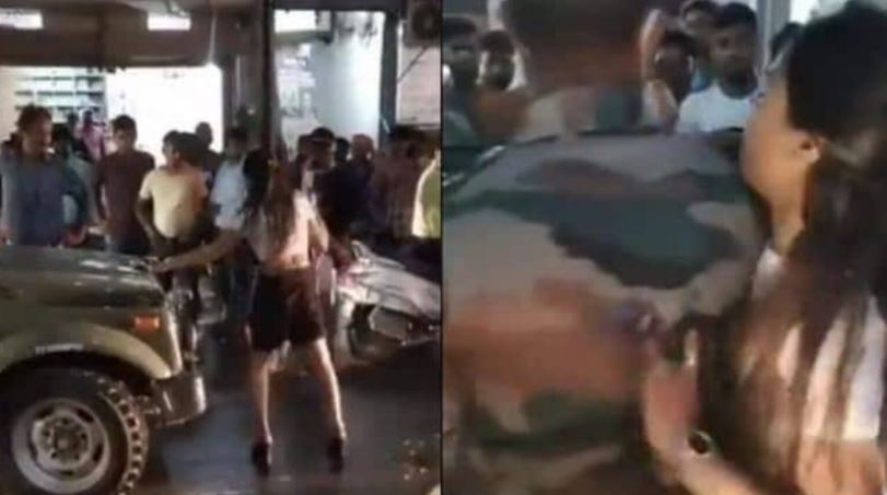 army girl fight